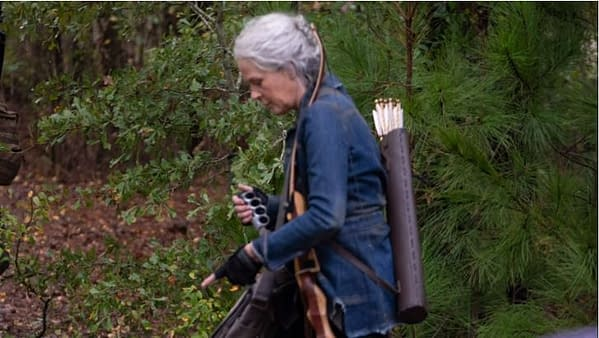 """The Walking Dead offered behind the scenes images from """"Find Me."""" (Image: AMC Networks- screencap)"""