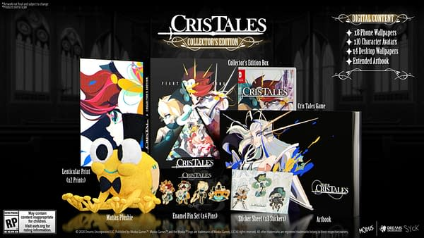 A look at the Collector's Edition of Cris Tales, courtesy of Modus Games.