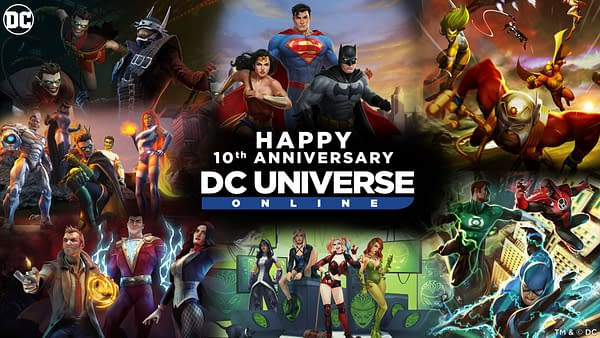 Happy tenth anniversary to DC Universe Online, courtesy of Dimensional Ink.