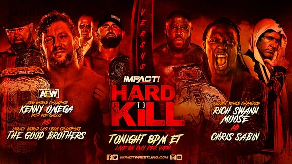 Match Graphic for the main event of Impact Hard to Kill