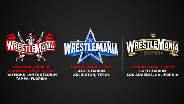 WWE WrestleMania locations (Image: WWE)
