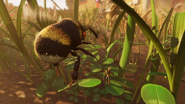 People who don't like bees won't be too happy to see this thing flying around. Courtesy of Obsidian Entertainment.