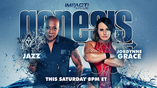 Match graphic for Jazz vs. Jordynne Grace at Impact Genesis