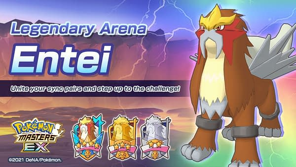 Entei in the Legendary Arena. Credit: DeNA