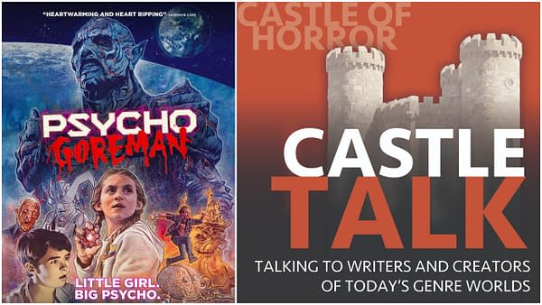 PG: Psycho Goreman poster and Castle Talk Logo used by permission
