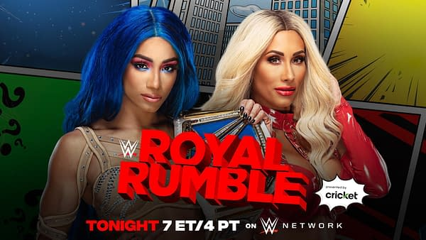 WWE Royal Rumble - Banks Makes a Statement Against Carmella for Title