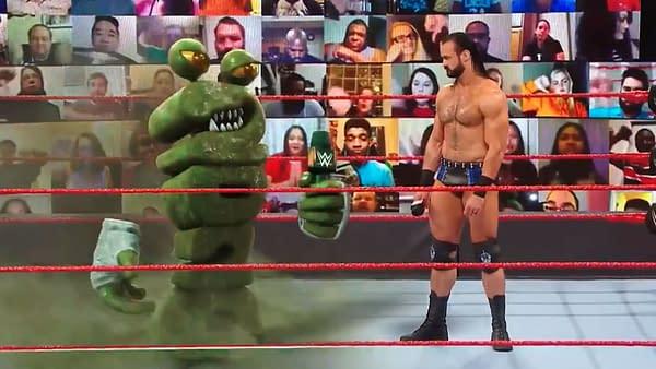Drew McIntyre faces the Coronavirus itself in the WWE Ring