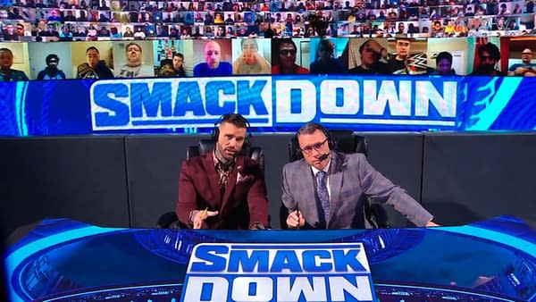 """Corey Graves and Michael Cole terrorize the eardrums of viewers of WWE Friday Night Smackdown with their """"commentary"""""""