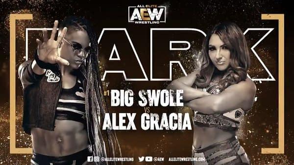 Match graphic for Big Swole vs. Alexa Gracia, happening next week on AEW Dark