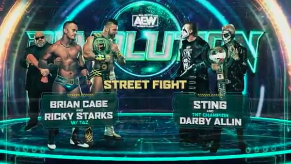 Sting and Darby Allin will face Brian Cage and Ricky Starks in a Street Fight at AEW Revolution