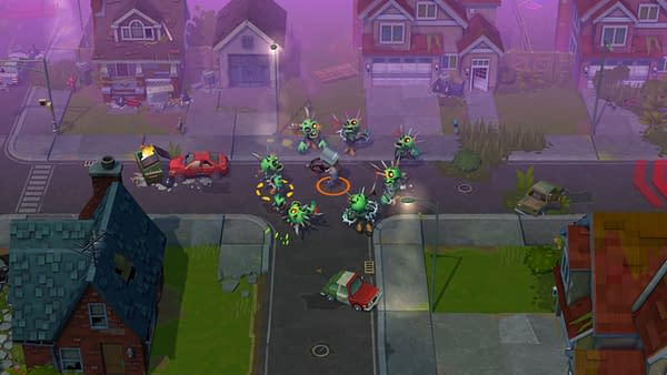 Don't mind me, just another day in the neighborhood killing all the undead who reside here. Courtesy of Ember Entertainment.