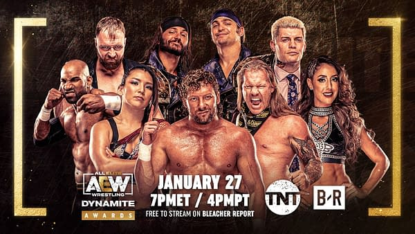 Graphic for the first AEW Awards