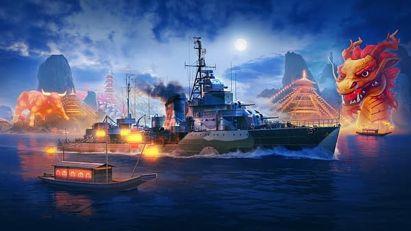 Yep, that's one massive dragon sitting in the water. Courtesy of Wargaming.
