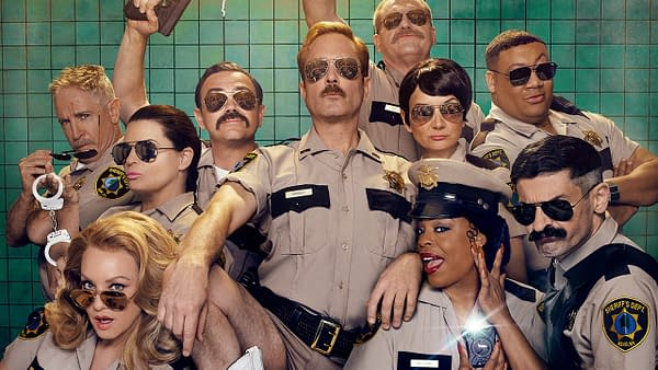 Reno 911! will be returning for Season 8 later this year. (Image: Roku)