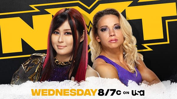 Io Shirai will take on WWE's answer to the Big Show, Zoey Stark, in a non-title match on NXT tonight.