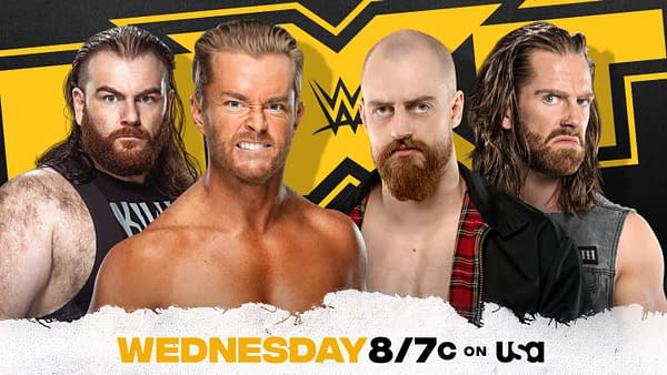 The Grizzled Young Veterans will take on Drake and Killian on tonight's episode of NXT. Hilarity is sure to ensue.