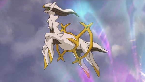"""Arceus is known as """"The Original One"""" and it is implied that it is effectively the creator of all things in the world of Pokémon."""