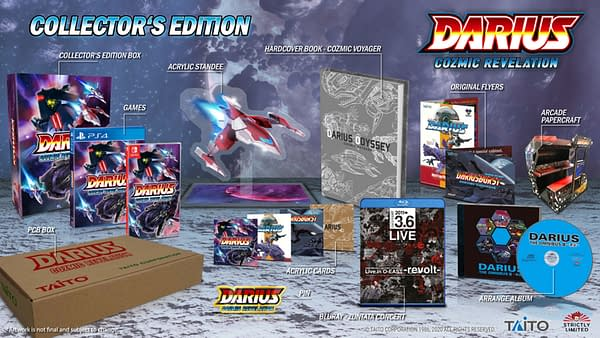 A look at the Collector's Edition for Darius Cozmic Revelation, courtesy of Taito.