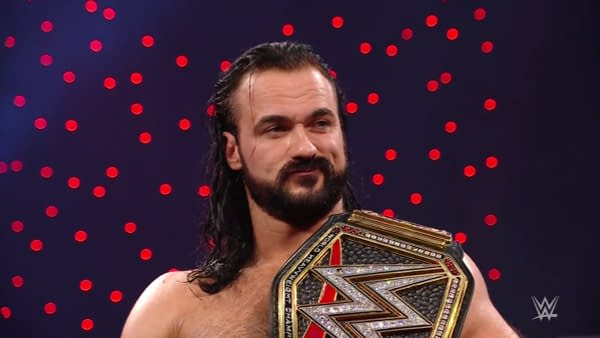 Drew McIntyre is not impressed that The Miz pulled himself from the Elimination Chamber match.