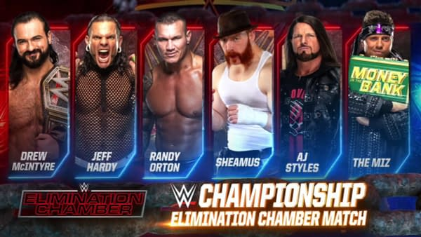 Drew McIntyre will defend the WWE Championship inside the Elimination Chamber