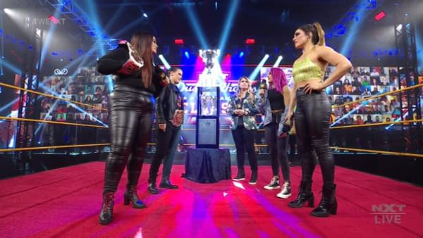 The winners of the Dusty Rhodes Classic, Dakota Kai and Raquel Gonzalez, will get a shot at the Tag Team Championships against Nia Jax and Shayna Baszler in two weeks on NXT.