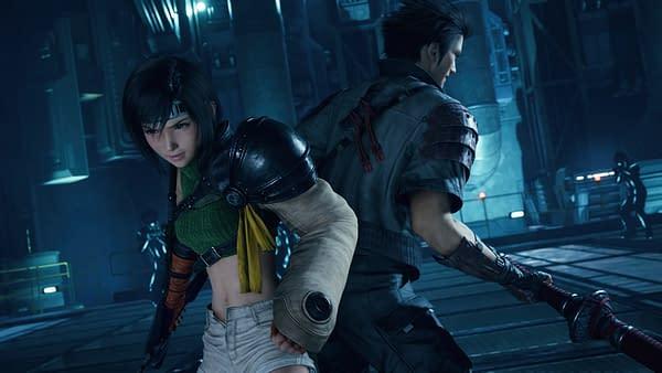 Yuffie and Sonon ready to fight in Final Fantasy VII Remake Intergrade, courtesy of Square Enix.