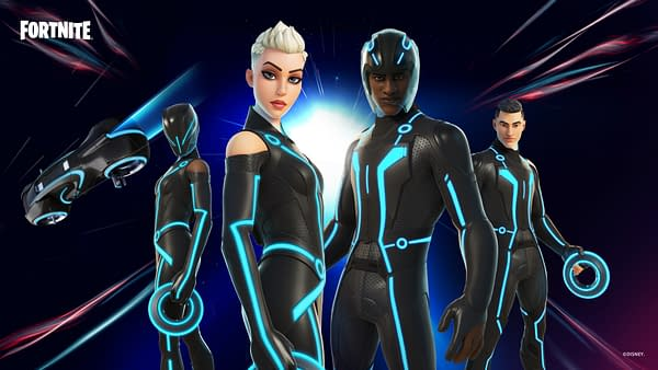 Check out the latest fashion line from The Grid, which never really changes. Courtesy of Epic Games.