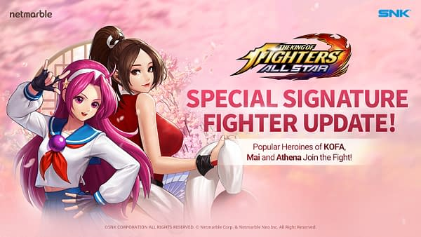 A look at Mai Shiranui and Athena Asamiya as they are in the game, courtesy of Netmarble.