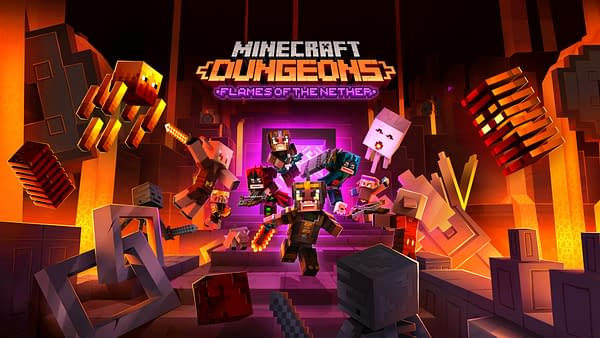 All those blocks you don't like running into in The Nether... they're now here in Minecraft Dungeons. Courtesy of Mojang.