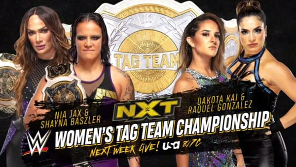 NXT Next Week: WWE Women's Tag Team Titles Will Be On The Line