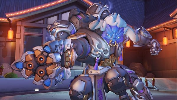 Orisa looking mighty powerful in the year of the Ox in Overwatch, courtesy of Blizzard.