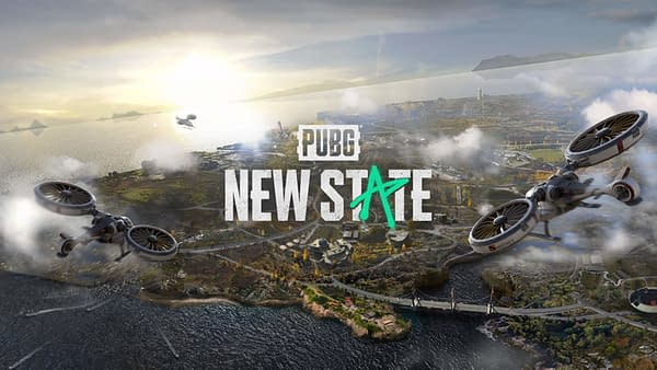 A look at the new logo and one of the maps for PUBG: New State, courtesy of Krafton.