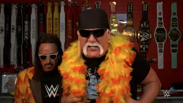 Hulk Hogan cuts a promo on WWE Smackdown about the long-dead Andre the Giant, who Hogan calls stinky and wart-infested. But at least he didn't drop the n-word.