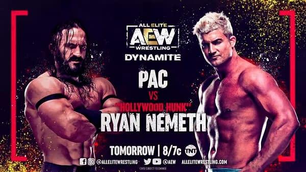 Pac will face Ryan Nemeth on AEW Dynamite
