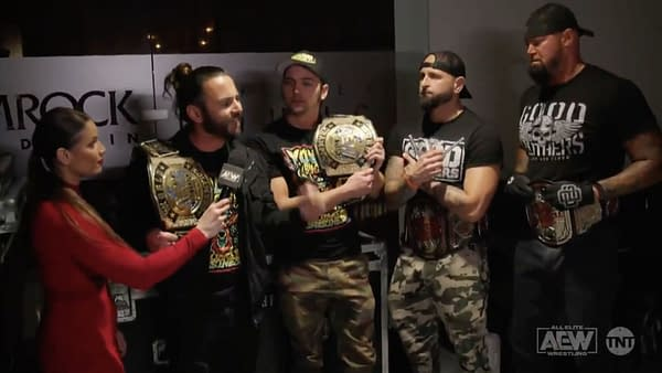 Best frenemies The Young Bucks and The Good Brothers discuss tag team title defenses on AEW Dynamite