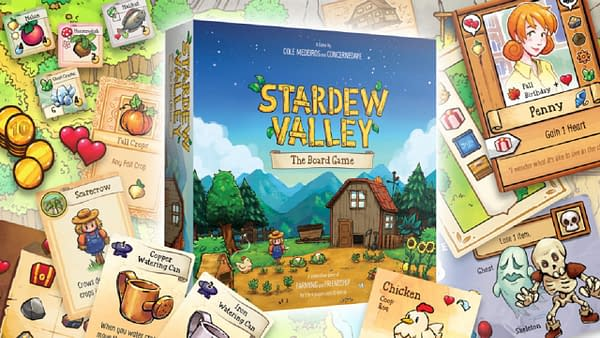 A look at the cover of Stardew Valley: The Board Game, courtesy of Delano Games.