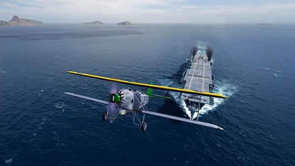 Old school aircraft carriers make their way onto the seas. Courtesy of Wargaming.