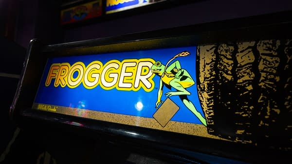 Santa Cruz, California - October 18, 2019: The original Frogger arcade game in an indoor arcade at the famous Santa Cruz boardwalk, photo by Logan Bush / Shutterstock.com.