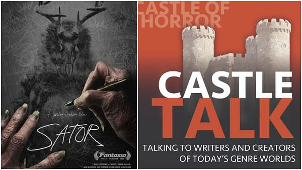 Sator poster and Castle Talk Podcast logo used with permission.