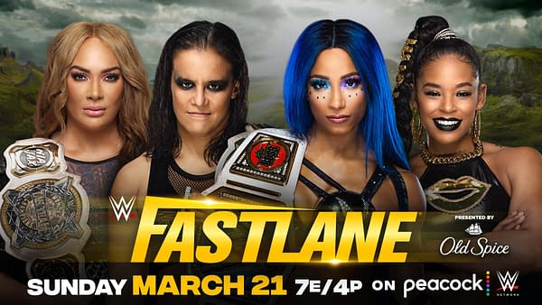 Nia Jax and Shayna Baszler will defend the belts against WrestleMania rivals Bianca Belair and Sasha Banks