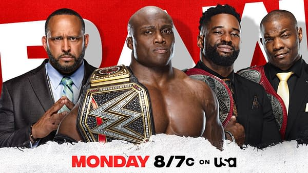 Hurt Business will celebrate Bobby Lashley winning the WWE Championship on WWE Raw this week.