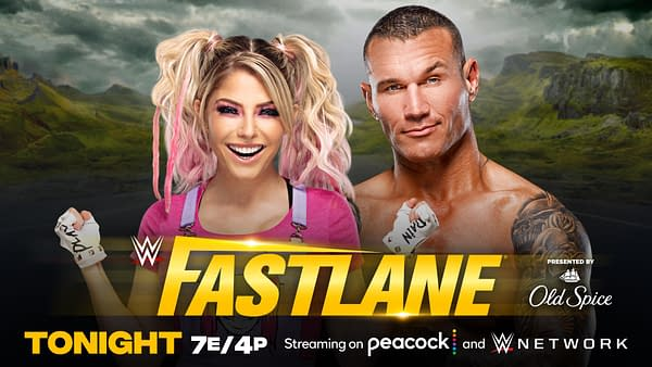 Match graphic for Alexa Bliss vs. Randy Orton at WWE Fastlane (Return of the Fiend)