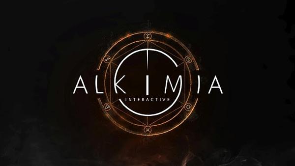 The main logo for the new THQ Nordic studio, Alkimia Interactive.
