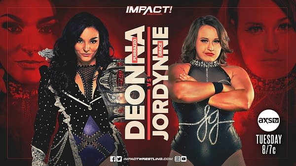 Deonna Purrazzo faces Jordynne Grace in a non-title match on Impact tonight.