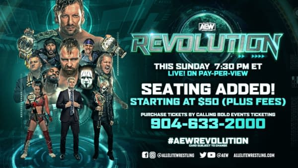 More seating has been added for AEW Revolution, happening this Sunday at Daily's Place in Jacksonville.