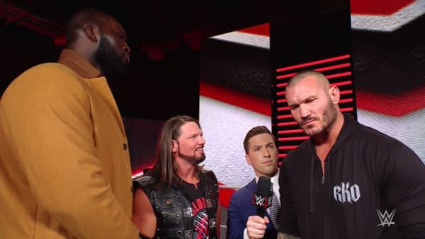 Randy Orton and Omos make fun of Randy Orton for being afraid of Alexa Bliss and The Fiend on WWE Raw