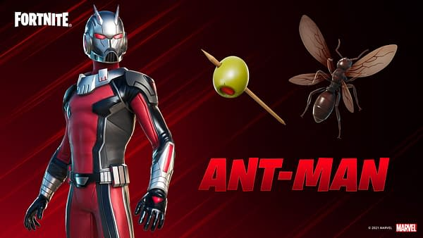 A look at the Ant-Man gear and more in Fortnite, which you can get in the item shop now. Courtesy of Epic Games.