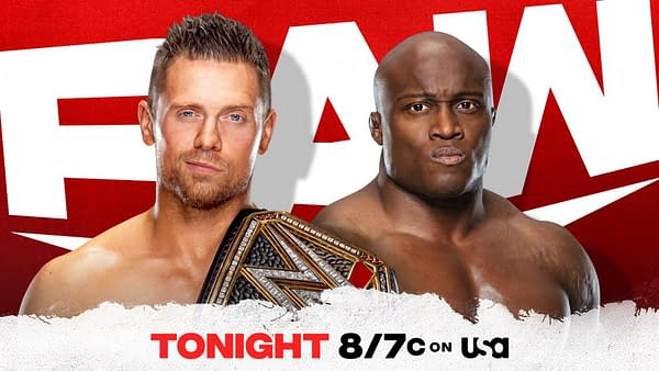 The Miz will defend the WWE Championship against Bobby Lashley in the main event of WWE Raw tonight.