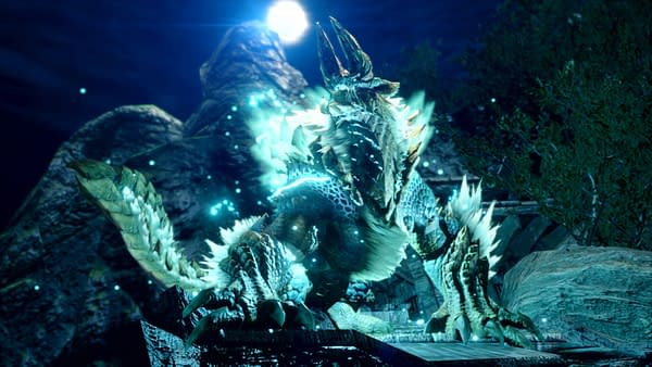 Zinogre in all of their glory as featured in Monster Hunter Rise, courtesy of Capcom.