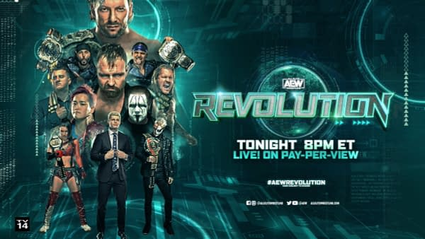 Official graphic for AEW Revolution